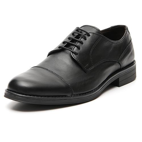 Scarpe vera pelle nero opaco taglio in punta 4