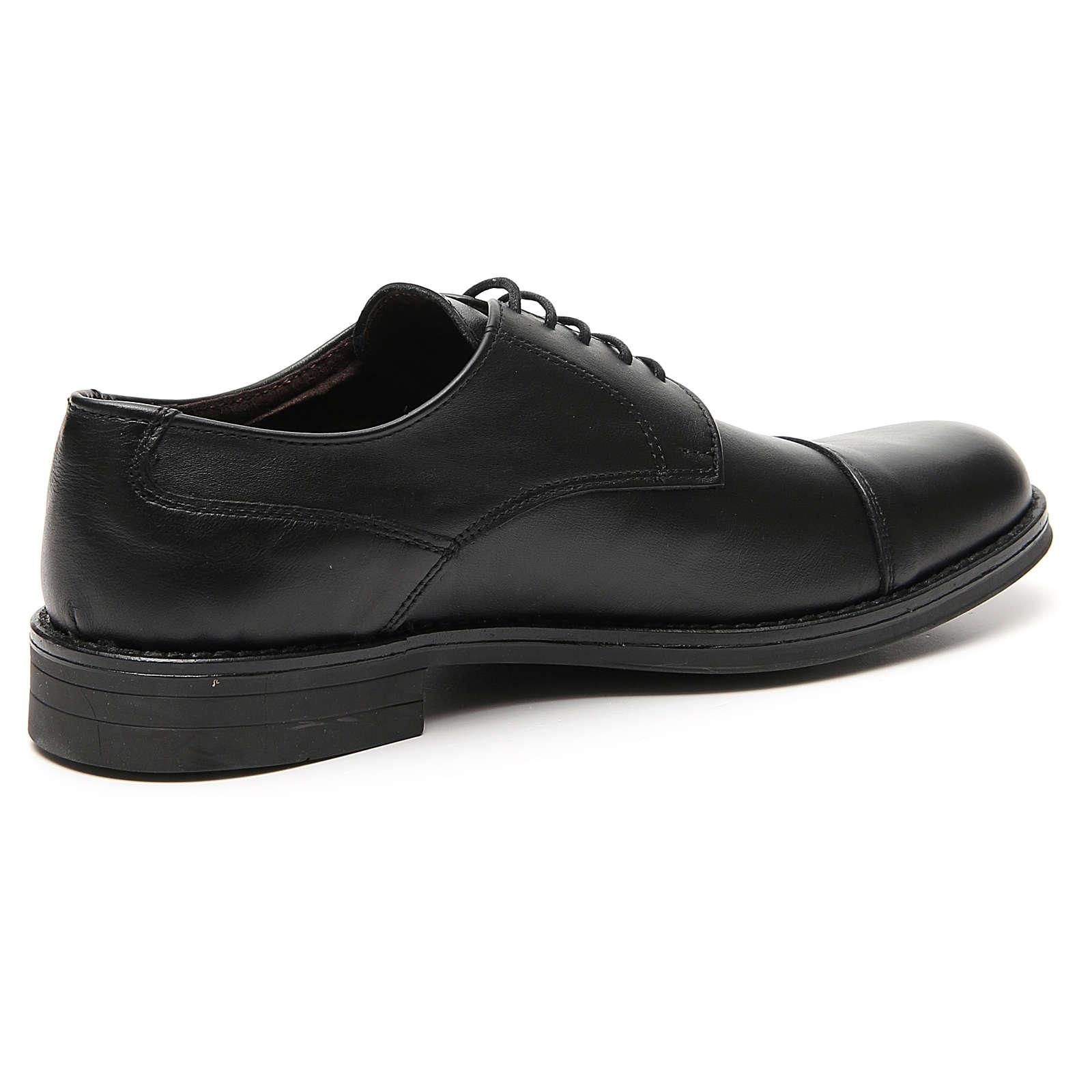 Sapatos couro verdadeiro prato opaco ponta reforçada 4