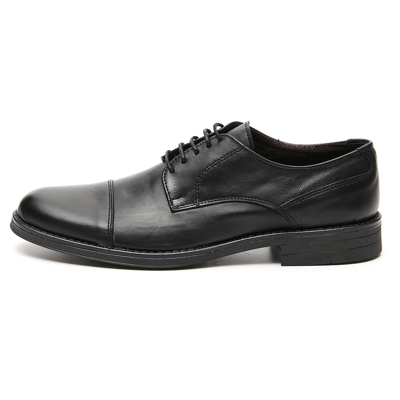 Shoes in opaque real leather, toe cut 4
