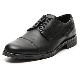 Shoes in opaque real leather, toe cut s4