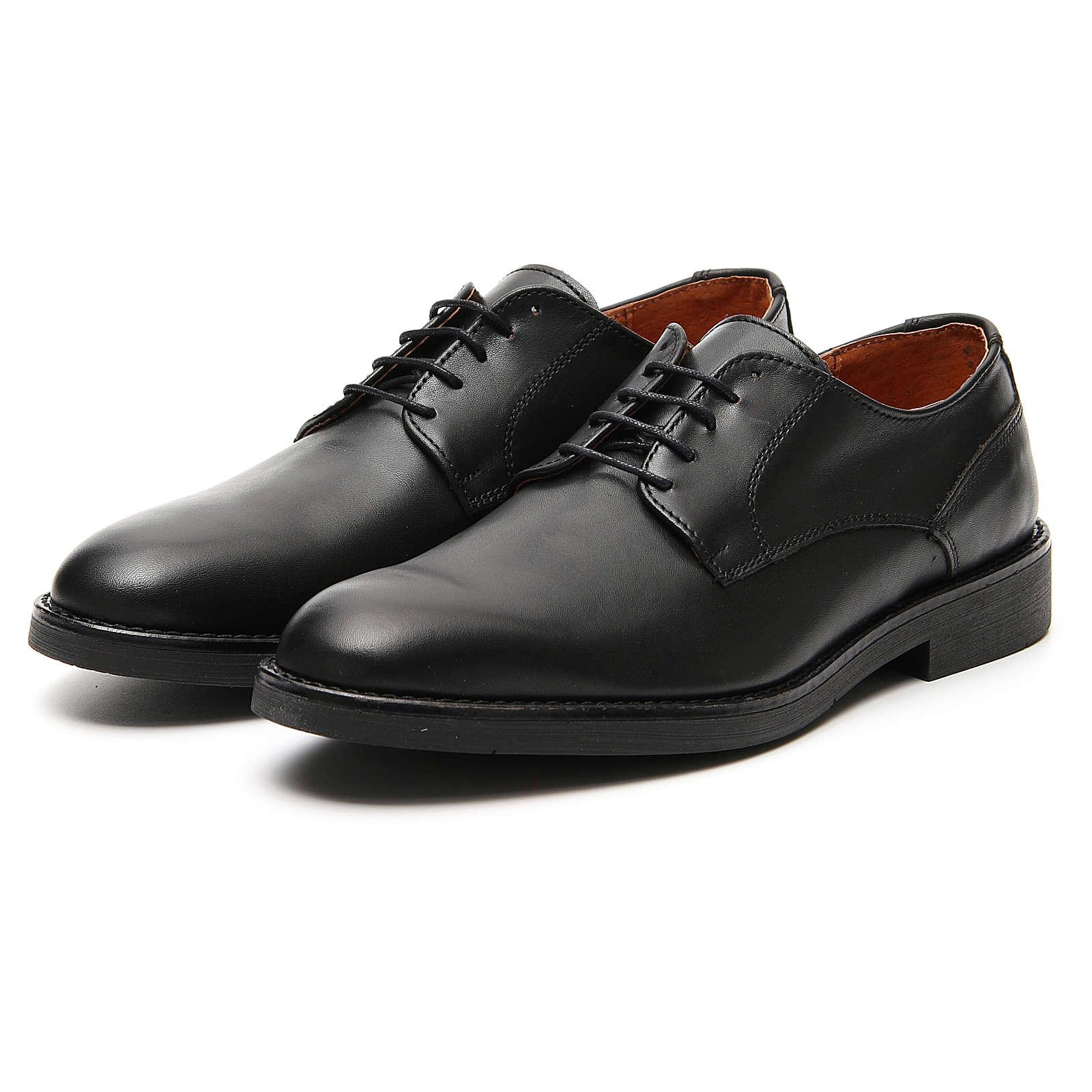 Chaussures cuir véritable de veau noir 4