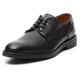 Sapatos couro verdadeiro de vitelo preto s4