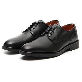 Sapatos couro verdadeiro de vitelo preto s5