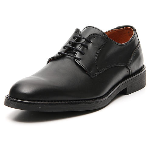 Sapatos couro verdadeiro de vitelo preto 4