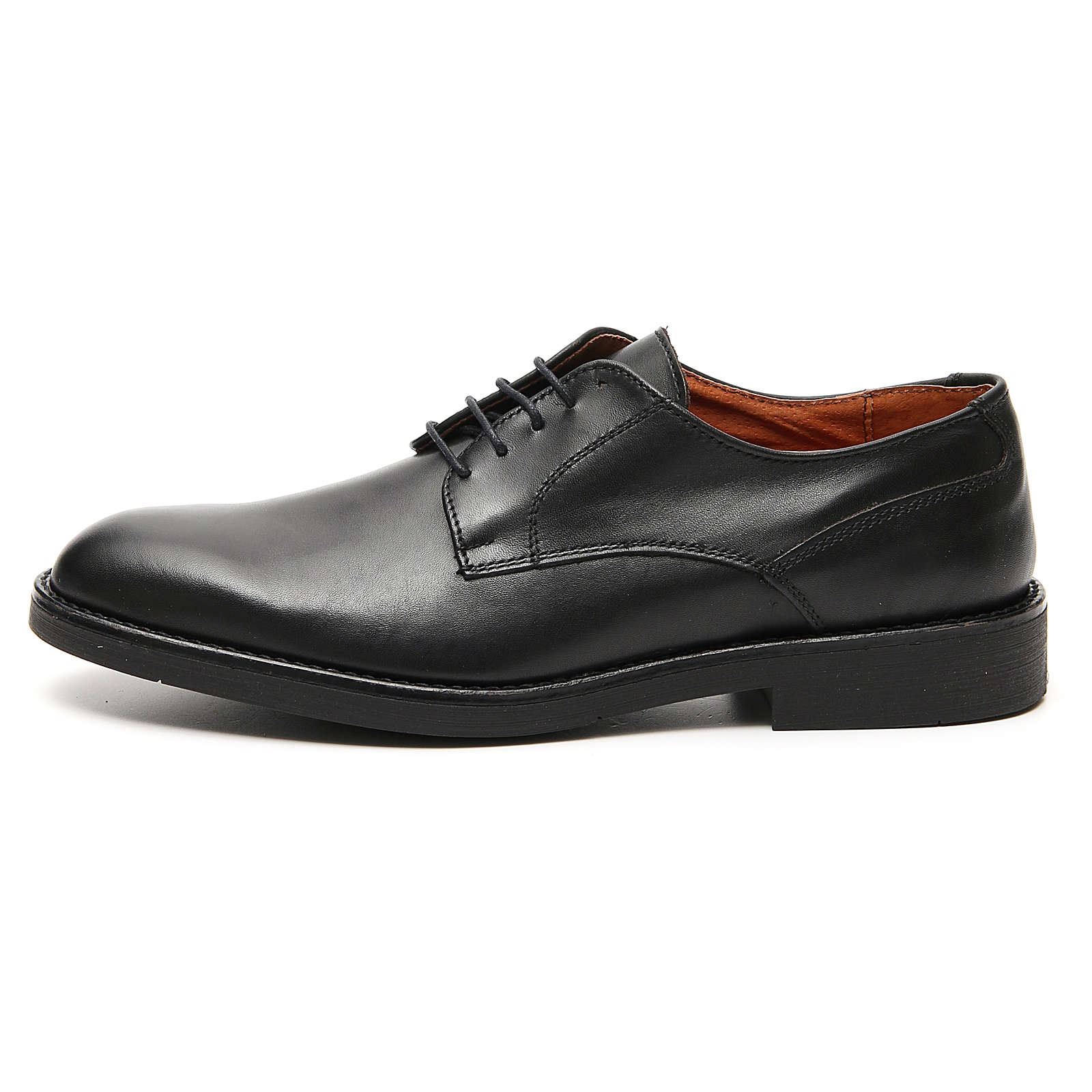 Shoes in opaque real black leather 4