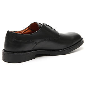 Shoes in opaque real black leather s3
