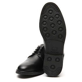 Shoes in opaque real black leather s6