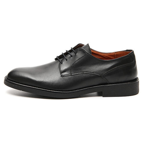 Shoes in opaque real black leather 1