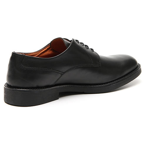Shoes in opaque real black leather 3