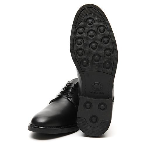 Shoes in opaque real black leather 6