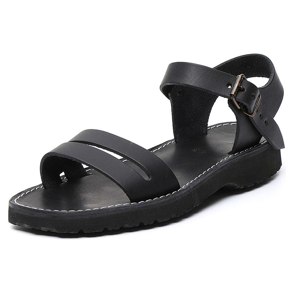 Benediktiner-Sandalen aus Leder Modell Bethléem hergestellt von den Mönchen von Bethlehem 4