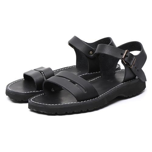 Benediktiner-Sandalen aus Leder Modell Bethléem hergestellt von den Mönchen von Bethlehem 5