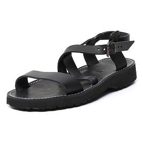 Benedictine sandals Bethléem model in hide Monks of Bethlehem s7