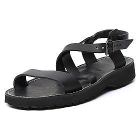 Benedictine sandals Bethléem model in hide Monks of Bethlehem s8