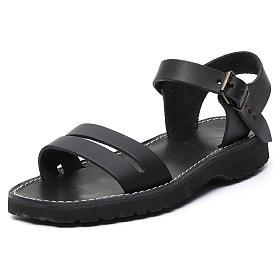 Benedictine sandals Bethléem model in hide Monks of Bethlehem s10