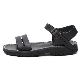 Benedictine sandals Bethléem model in hide Monks of Bethlehem s1