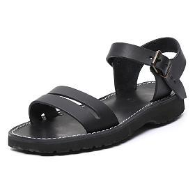 Benedictine sandals Bethléem model in hide Monks of Bethlehem s2