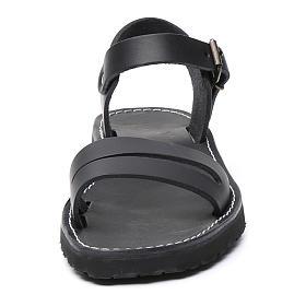 Benedictine sandals Bethléem model in hide Monks of Bethlehem s4