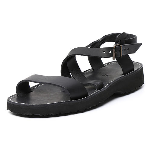 Benedictine sandals Bethléem model in hide Monks of Bethlehem 7