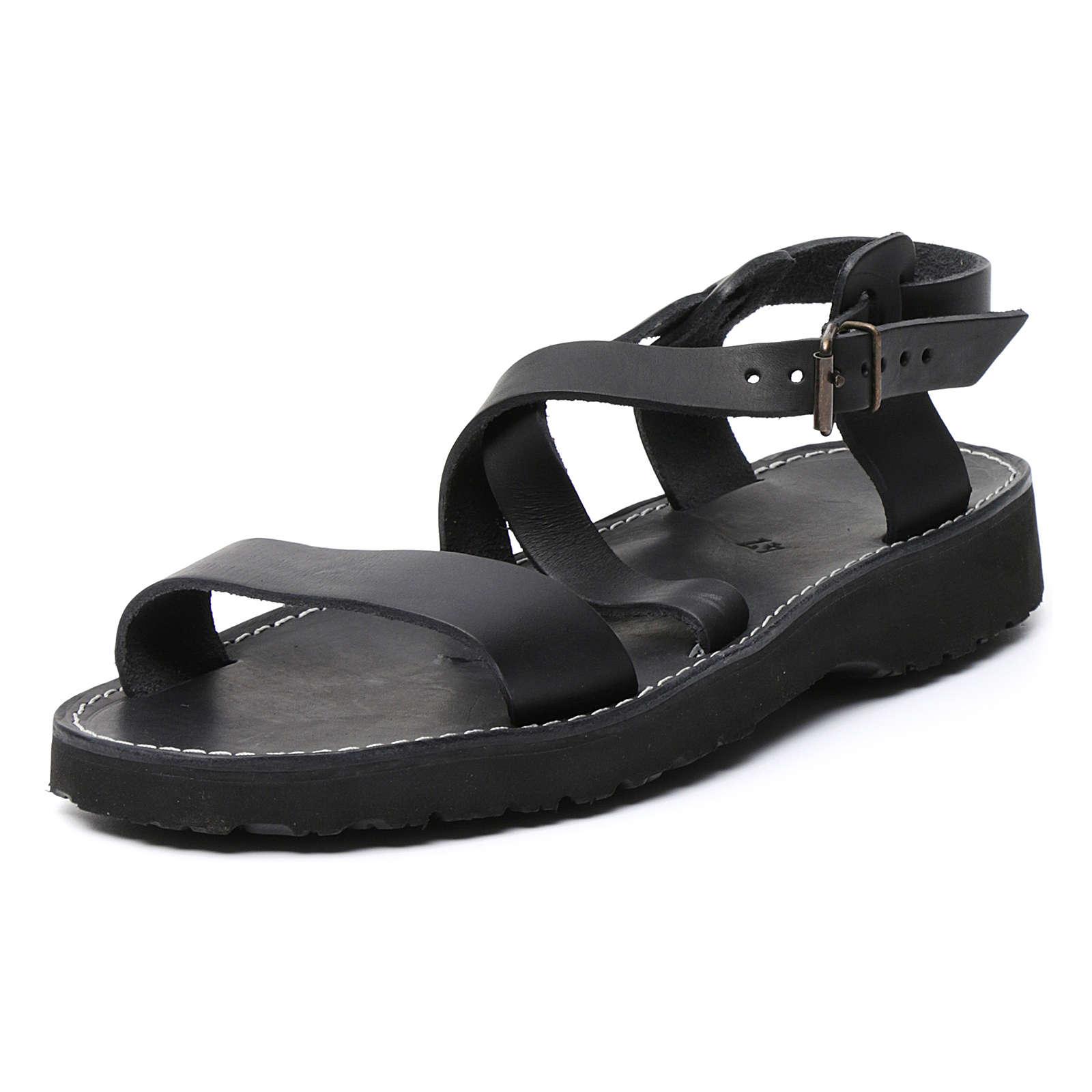 Sandales bénédictins cuir mod. Bethléem Moines Atelier 4