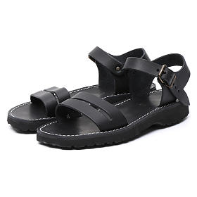 Sandales bénédictins cuir mod. Bethléem Moines Atelier s5