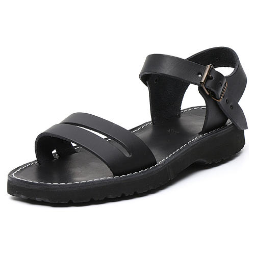Sandales bénédictins cuir mod. Bethléem Moines Atelier 10
