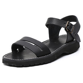 Sandały benedyktyńskie prawdziwa skóra model Bethleem Mnisi Atelier s10