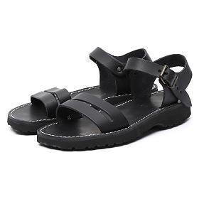 Benedictine sandals Bethléem model in hide Monks of Bethlehem s5