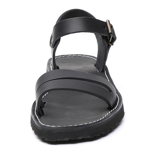 Benedictine sandals Bethléem model in hide Monks of Bethlehem 4