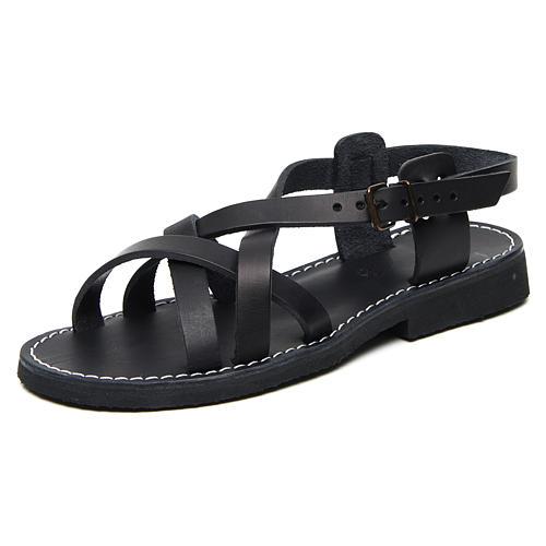 Sandálias beneditinos couro mod. Samara Monges de Belém 3