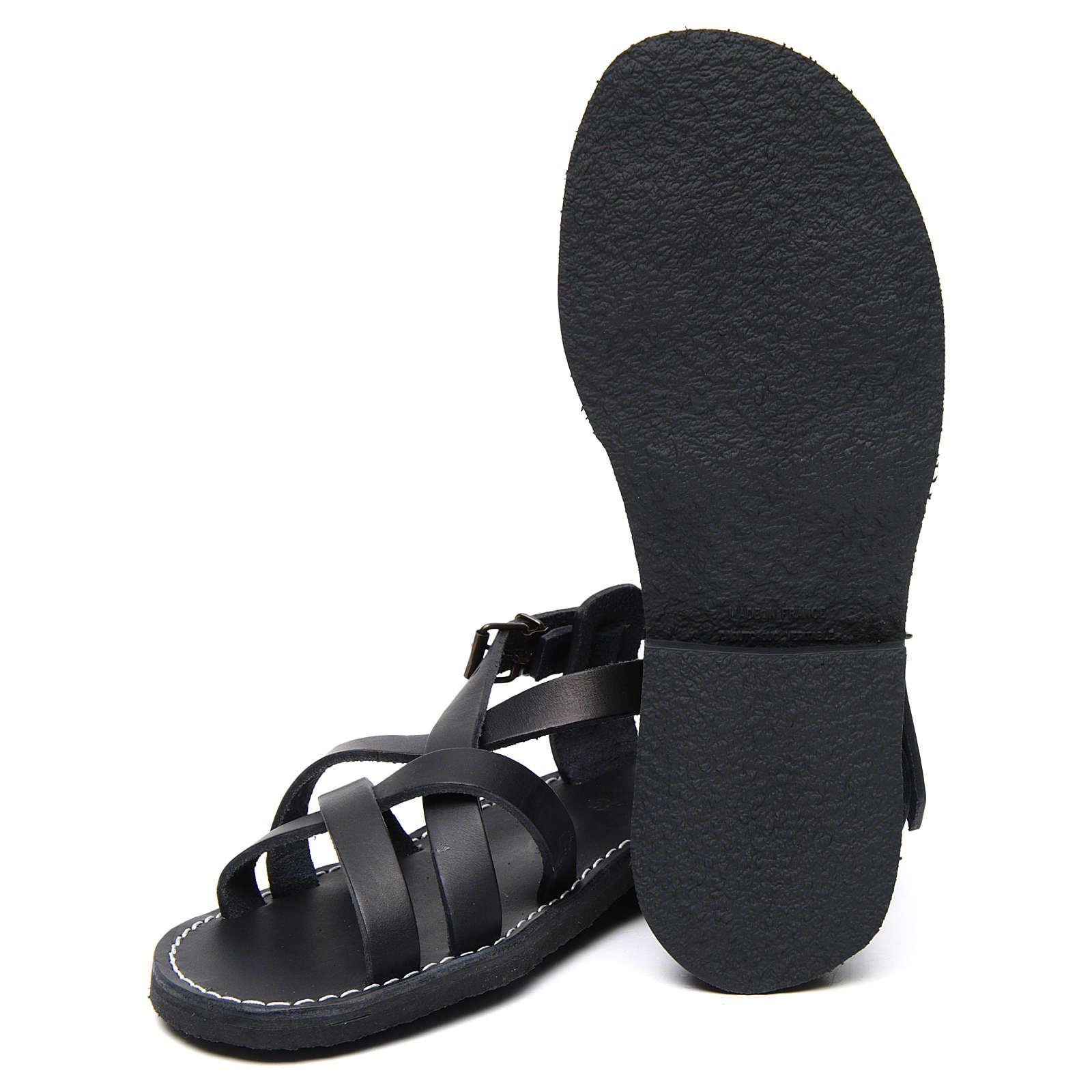 Benedictine sandals Samara model in hide Monks of Bethlehem 4