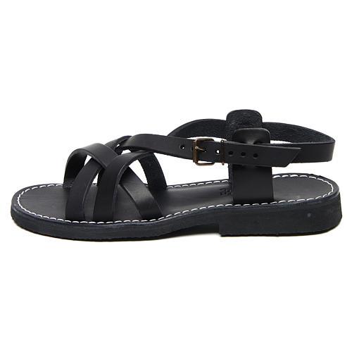 Benedictine sandals Samara model in hide Monks of Bethlehem 1