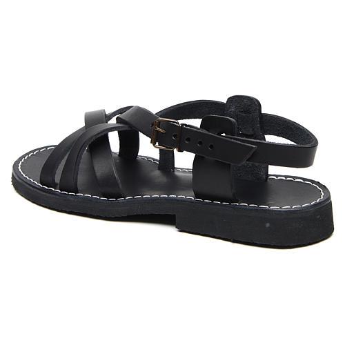 Benedictine sandals Samara model in hide Monks of Bethlehem 2