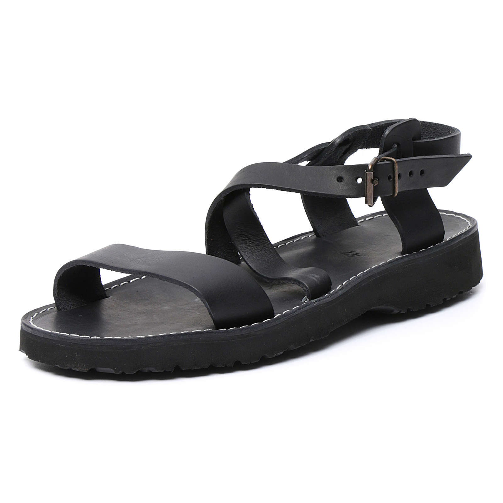 Benedictine sandals Nazareth model in leather Monks of Bethlehem 4