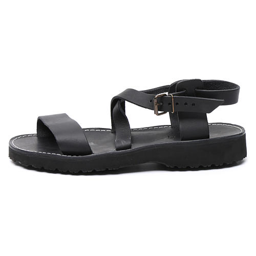 Benedictine sandals Nazareth model in leather Monks of Bethlehem 1