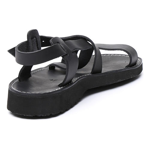 Benedictine sandals Nazareth model in leather Monks of Bethlehem 3