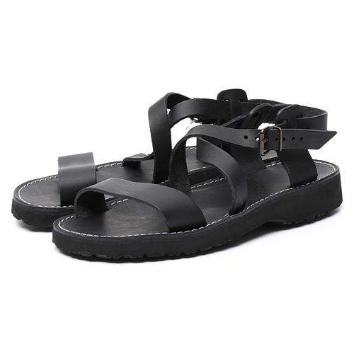 Benedictine sandals Nazareth model in leather Monks of Bethlehem 5