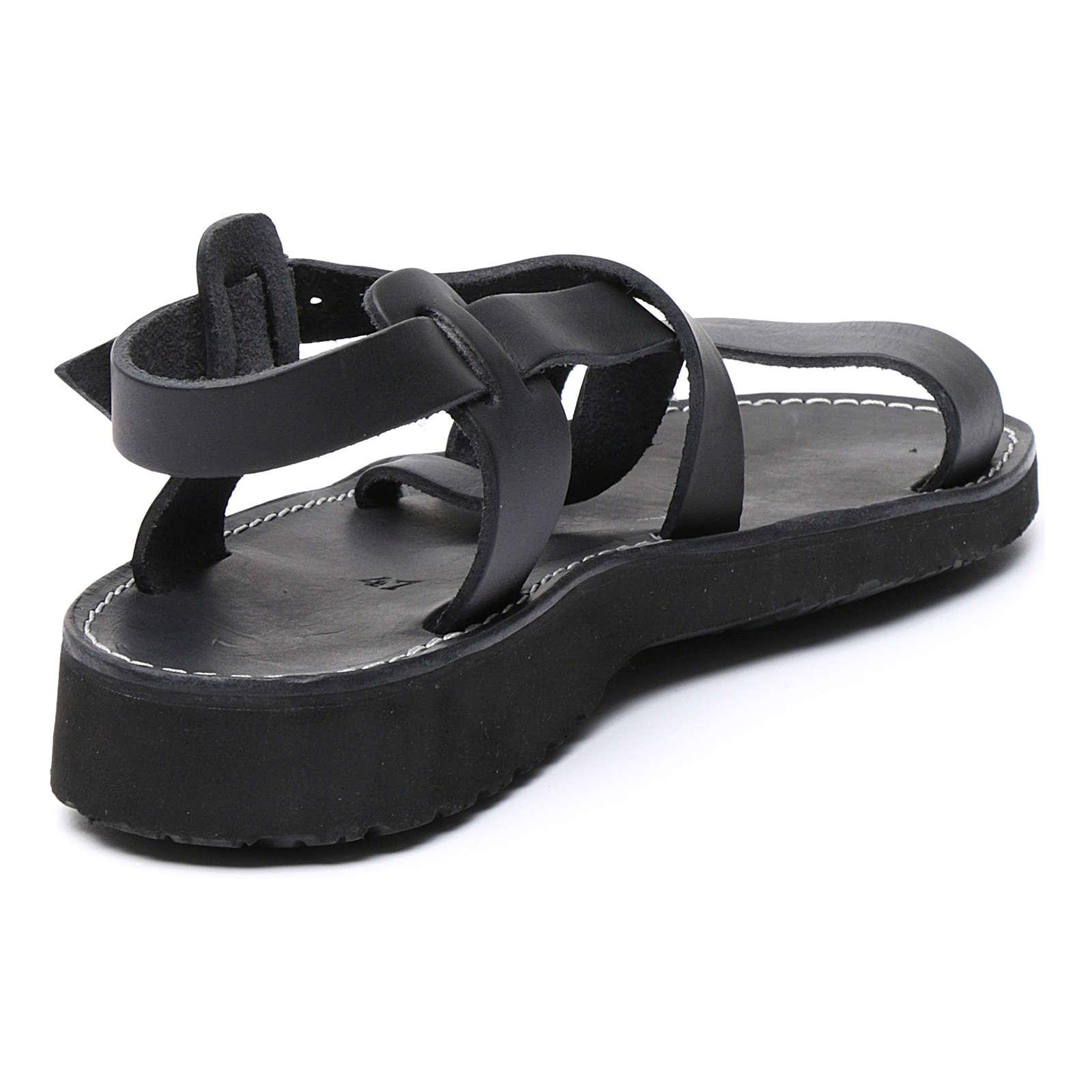 Sandales bénédictins mod. Nazareth cuir Moines de Bethléem 4