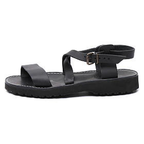 Benedictine sandals Nazareth model in leather Monks of Bethlehem s1