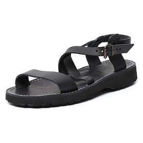Benedictine sandals Nazareth model in leather Monks of Bethlehem s2