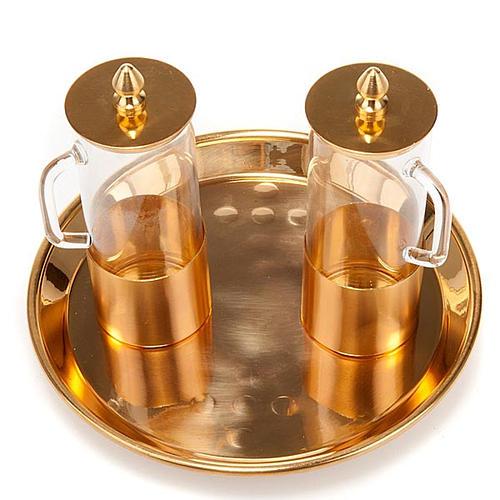 Cruet set polished brass 1