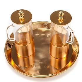 Cruet set for mass in polished brass s1