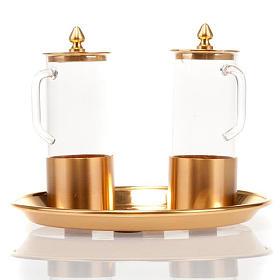 Cruet set for mass in polished brass s2