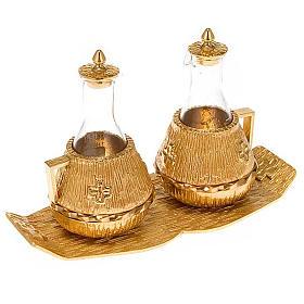Cruet set gold-plated amphora s1