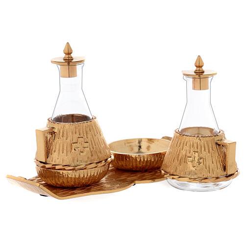 Cruet set gold-plated amphora 2