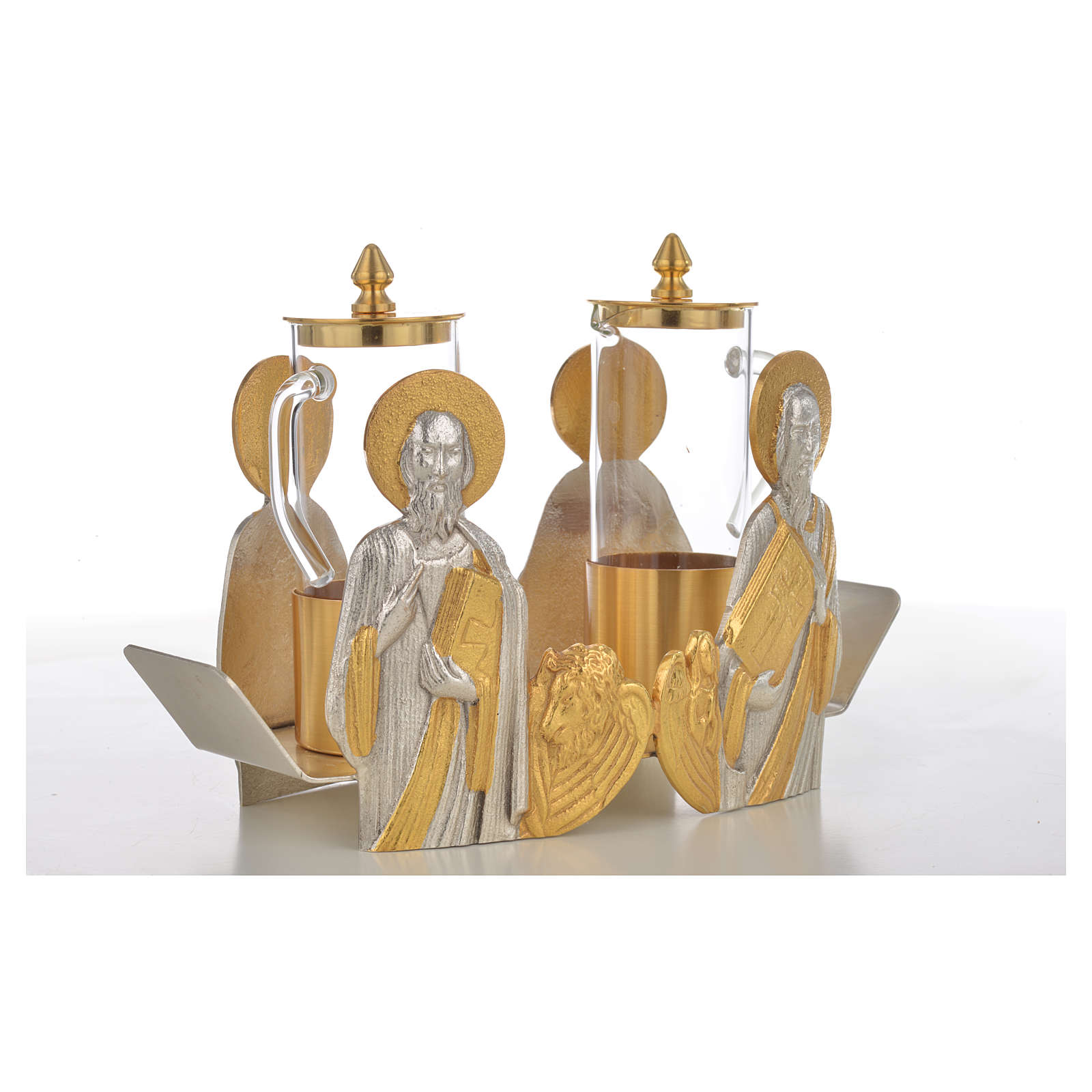 Mass cruet set Evangelists busts 4