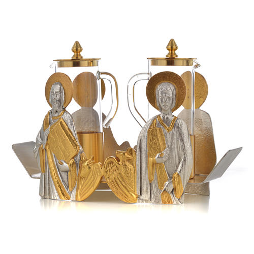 Mass cruet set Evangelists busts 8