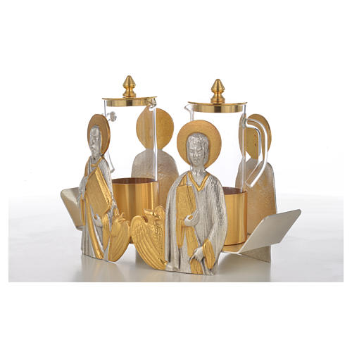 Mass cruet set Evangelists busts 12