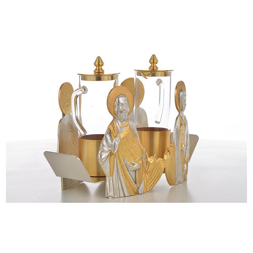 Mass cruet set Evangelists busts 14