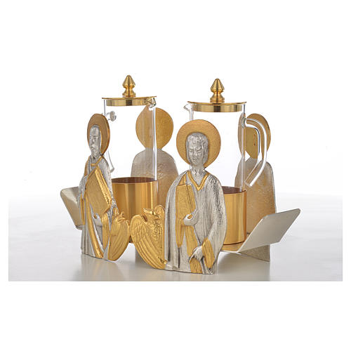 Mass cruet set Evangelists busts 5